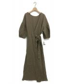LAppartement(アパルトモン)の古着「Linen Madam Dress」 ブラウン