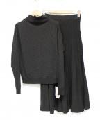 VICKY(ビッキー)の古着「ラメプリーツスカートセットアップ」 ブラック