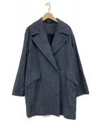 TAGLIATORE(タリアトーレ)の古着「デニムハーフコート」|ブルー