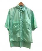 digawel(ディガウェル)の古着「ビッグポケットシャツ」|グリーン