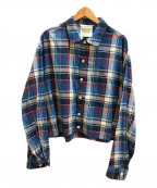 digawel(ディガウェル)の古着「C/Rチェックブルゾン / ジャケット」|ブルー
