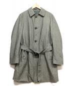 HERNO(ヘルノ)の古着「ヘリンボーンステンカラーコート」|グレー