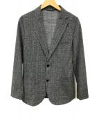 ()の古着「ウォッシャブルドビークロス2Bジャケット」 グレー