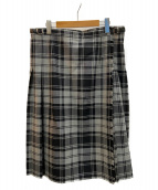 O'NEIL OF DUBLIN(オニールオブダブリン)の古着「チェックラップスカート」 グレー