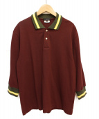 COMME des GARCONS HOMME PLUS(コムデギャルソンオムプリュス)の古着「七分袖ポロシャツ」|ボルドー