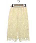 Whim Gazette(ウィムガゼット)の古着「antik dantelレーススカート」|エクリュ