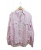 Frank&Eileen(フランクアンドアイリーン)の古着「リネンスキッパーシャツ」|ラベンダー