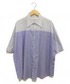 Maison Margiela(メゾンマルジェラ)の古着「20SS クラシックストライプシャツ」|ブルー×ホワイト