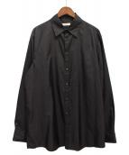 VALENTINO(バレンティノ)の古着「スナップアップシャツ」|ブラック
