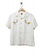 HUMAN MADE(ヒューマンメイド)の古着「オープンカラーシャツ」 ホワイト