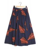 LE GLAZIK(ルグラジック)の古着「バティックフレアスカート」|ネイビー