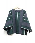 45R(フォーティファイブアール)の古着「半袖スウェット」|グレー×グリーン