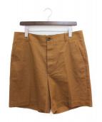 ()の古着「19SS バックロゴ刺繍ハーフパンツ」|ブラウン