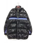GCDS(ジーシーディーエス)の古着「オーバーサイズダウンコート」|ブラック×ブルー