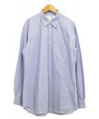 COMME des GARCONS SHIRT(コムデギャルソンシャツ)の古着「レジメンタルストライプシャツ」 ブルー