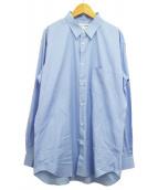 COMME des GARCONS SHIRT(コムデギャルソンシャツ)の古着「クラッシクポップリンシャツ」 スカイブルー