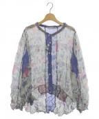 OLLEBOREBLA(アルベロベロ)の古着「シワ加工シャツ」 ブルー
