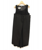 MM6(エムエムシックス)の古着「デザインワンピース」|ブラック