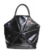 JUNYA WATANABE COMME des GARCONS(ジュンヤワタナベ コムデギャルソン)の古着「レザートートバッグ」|ブラック