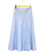GALLARDA GALANTE(ガリャルダガランテ)の古着「リネンマーメードスカート」|ブルー