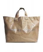 COMME des GARCONS(コムデギャルソン)の古着「PVCトートバッグ」|ベージュ