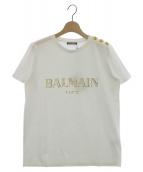 BALMAIN(バルマン)の古着「ロゴプリントTシャツ」|ホワイト