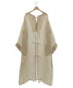 little Suzie(リトル スージー)の古着「2way Linen Kaftan Dress」|ナチュラル