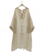 Little suzie(リトルスージー)の古着「2way Linen Kaftan Dress」 ナチュラル