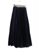 INED(イネド)の古着「プリーツスカート」 ブラック