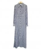 GANNI(ガニー)の古着「PRINTED CREPE MAXI DRESS」|グレー