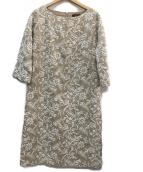 AMACA(アマカ)の古着「刺繍ワンピース」|ベージュ