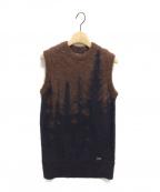 DSQUARED2(ディースクエアード)の古着「ニットベスト」|ブラウン
