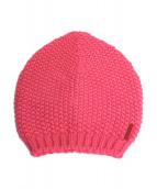 PRADA(プラダ)の古着「ロゴニット帽」|ピンク