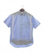COMME des GARCONS SHIRT()の古着「パネルパターンシャツ」 ブルー×グレー