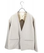 nitca(ニトカ)の古着「ノーカラージャケット」|ホワイト