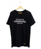 NEIGHBORHOOD(ネイバーフッド)の古着「プリントTシャツ」 ブラック