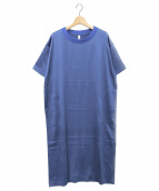 08sircus(08サーカス)の古着「ヴィンテージウオッシャーサテンドレス」|ブルー