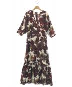 ELIN(エリン)の古着「フローラルVネックドレス」