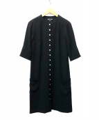 agnes b(アニエスベー)の古着「カーディガンプレッションワンピース」 ブラック