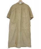 EURO MILITARY(ユーロ ミリタリー)の古着「military medical coat dress」|ベージュ