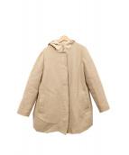 LEILIAN(レリアン)の古着「オーバーコート付ダウンコート」|ベージュ