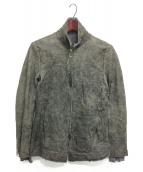 D.HYGEN(ディーハイゲン)の古着「リバーシブルレザージャケット」|グレー