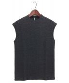 ripvanwinkle(リップヴァンウィンクル)の古着「ノースリーブニット」 ブラック