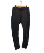 ripvanwinkle(リップヴァンウィンクル)の古着「LEATHER JERSEY/パンツ」 ブラック