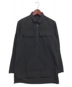 AF ARTEFACT(エーエフ アーティファクト)の古着「プルオーバーシャツ」 ブラック