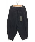 AF ARTEFACT(エーエフ アーティファクト)の古着「Tuck Volume Pants」 ブラック