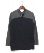 ripvanwinkle(リップヴァンウィンクル)の古着「CROSS NECK CARDE」 グレー×ブラック