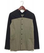 ripvanwinkle(リップヴァンウィンクル)の古着「カーディガン」 カーキ×ブラック