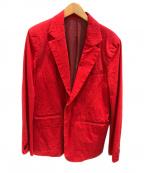 whowhat(フーワット)の古着「コットン1Bジャケット」|レッド