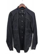 COMME des GARCONS Homme Plus(コムデギャルソンオムプリュス)の古着「ティアードジャガードシャツ」|ブラック